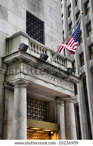 New York stock exchange US financial landmark. - stock photo