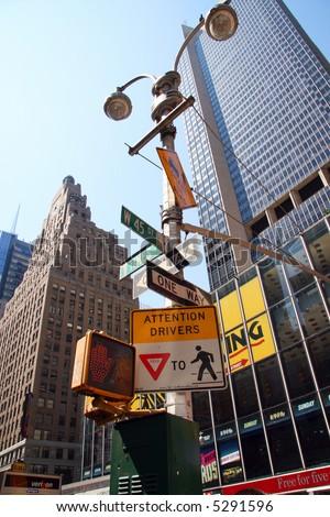 New York Street Sign - stock photo