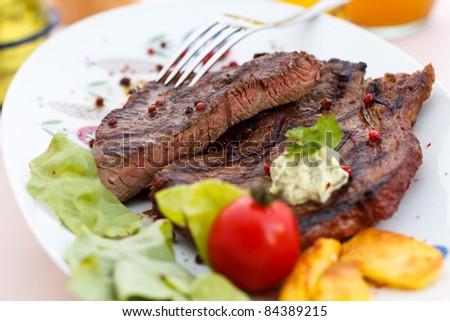 New York Strip Steak - stock photo