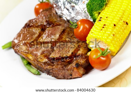 New York Strip Steak with Vegetables