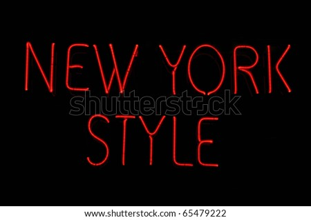 New York Style Neon Sign - stock photo