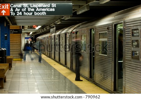 New York subway, Canal street station - stock photo