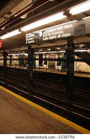 New York Subway Station - 8 - stock photo