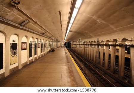 New York Subway Station - 10 - stock photo