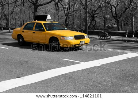 new york taxi - stock photo