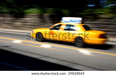 new york taxi - stock photo