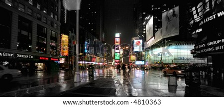 New York Times Square at night - stock photo