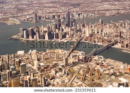 New York, top view - stock photo