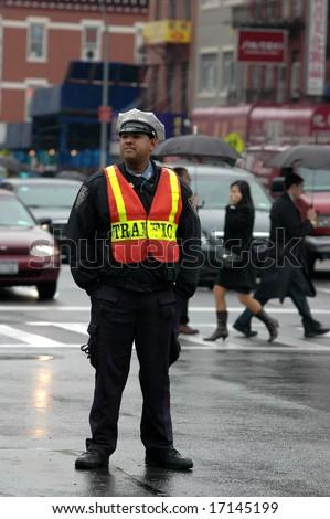 New York Traffic Cop - stock photo