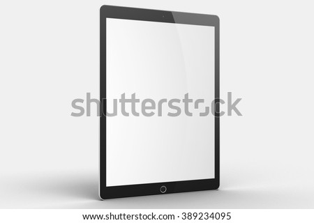 New York, USA - August 21, 2015:Brand new White Apple iPad Air 2, 6th generation of the iPad, developed by Apple inc. - stock photo