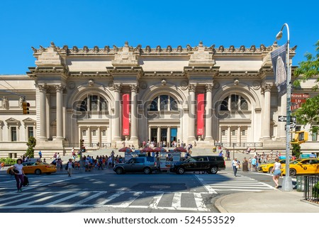 NEW YORK,USA - AUGUST 20,2016 : The Metropolitan Museum of Art in New York City