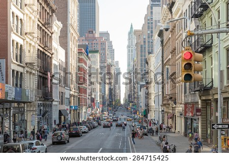 NEW YORK, USA - CIRCA MAY 2015: The busy city of NYC, New York, USA - stock photo