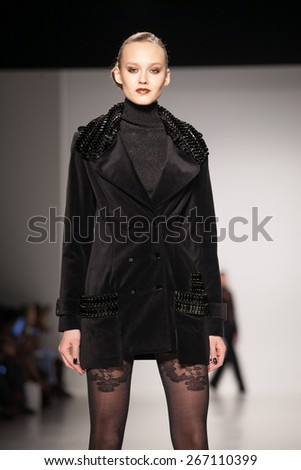 New York, USA - February 17, 2015: Zang Toi Runway at Lincoln Center for Mercedes Benz Fashion week Showing his Fall / Winter Collection for 2015