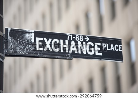 NEW YORK - USA - 11 JUNE 2015 wall street sign