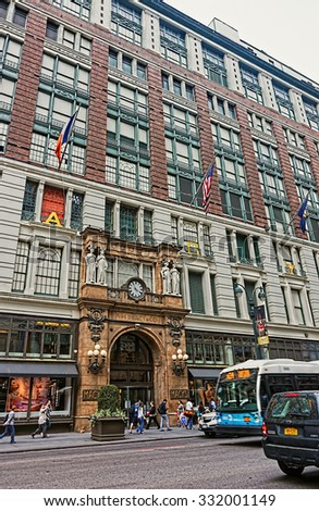 NEW YORK, USA - MAY 06, 2015: The world's largest department store Macy's in New York City, USA                       - stock photo