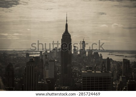 NEW YORK, USA - NOVEMBER 9: View of Empire State Buidling in New York on 9th November 2011 in New York, USA. - stock photo