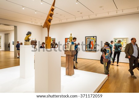 NEW YORK, USA - OCT 8, 2015: Museum of Modern Art (MoMA), an art museum, Midtown Manhattan, New York. It was established on November 7, 1929