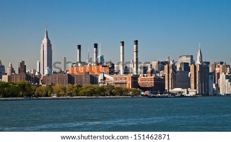 NEW YORK, USA-SEPTEMBER 21:Consolidated Edison Company of New York a regulated utility providing electric, gas, and steam service in New York City and Westchester County. New York, September 21, 2012. - stock photo