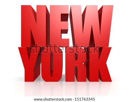 New York word - stock photo