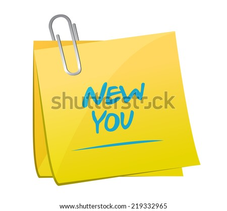 new you memo post illustration design over a white background - stock photo