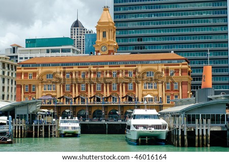 New Zealand Auckland City Harbour - stock photo