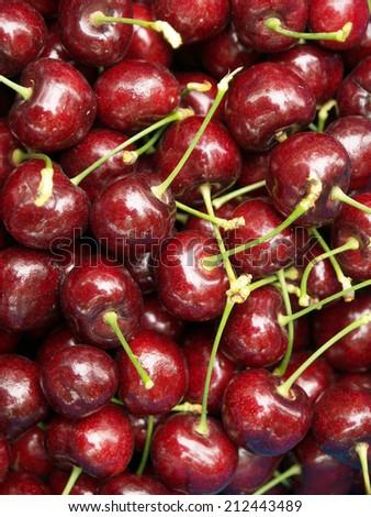 New Zealand cherries - stock photo
