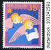 NEW ZEALAND - CIRCA 1987: A stamp printed by New Zealand, shows Angels Singing Christmas Carol, circa 1987 - stock photo