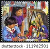 NEW ZEALAND - CIRCA 1994: A stamp printed in New Zealand shows children celebrating Christmas, circa 1994 - stock photo