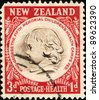 NEW ZEALAND - CIRCA 1955: A stamp printed in New Zealand shows Children's Health Camps Federation Emblem, circa 1955 - stock photo
