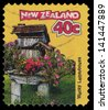 NEW ZEALAND - CIRCA 1997: A stamp printed in New Zealand shows Wacky - Letterbox, circa 1997 - stock photo