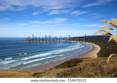 New Zealand Coastline Beach - stock photo