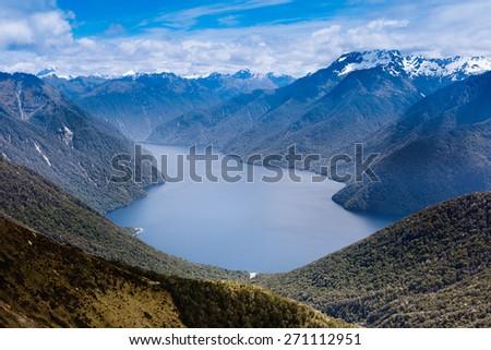 New Zealand fiordland  - stock photo