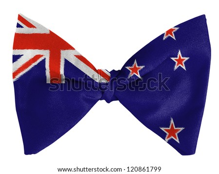 New Zealand flag on a bow tie - stock photo