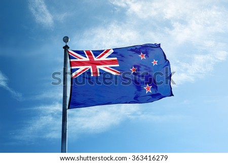 New Zealand flag on the mast