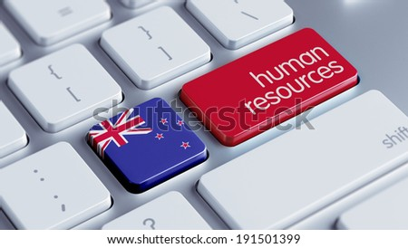 New Zealand High Resolution Human Resources Concept