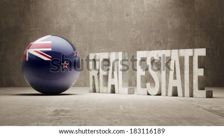 New Zealand High Resolution Real Estate Concept - stock photo