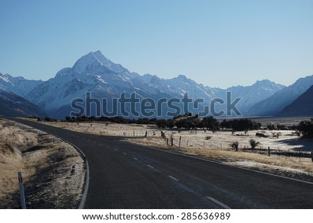 New Zealand - In the footsteps of Lord of the Rings - stock photo