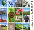 New Zealand kiwiana collage - stock