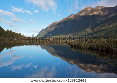 New Zealand Lake - stock photo