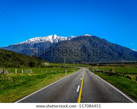 New Zealand South Island Mountains