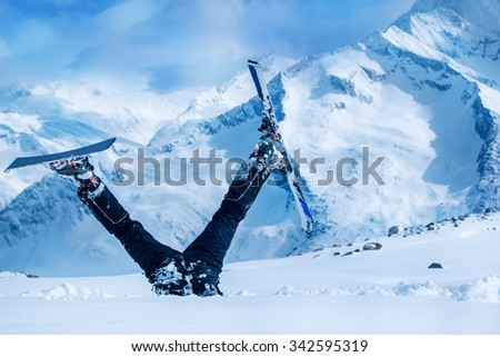 [Friend Safari Fairy] Lix Sannya - Página 2 Stock-photo-newbie-skier-stuck-in-deep-snow-with-his-legs-upside-down-342595319