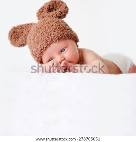 newborn baby - stock photo