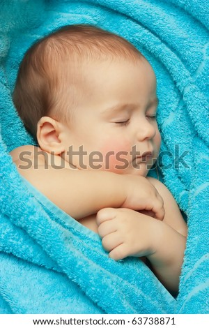 Newborn baby - stock photo