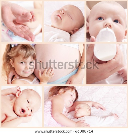 newborn baby collage
