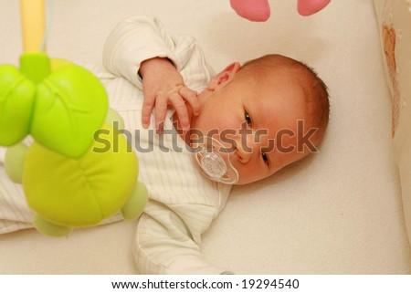 Newborn baby - 5 days old baby - stock photo