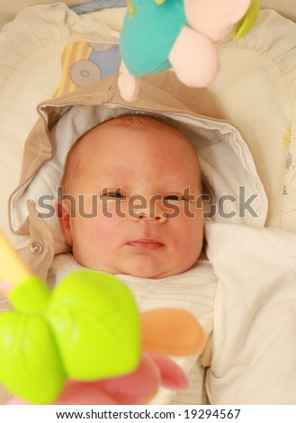 Newborn baby - 6 days old baby - stock photo