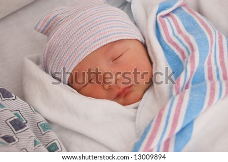 Newborn Baby in the Hospital - stock photo