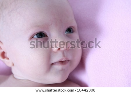Newborn Baby on black Background