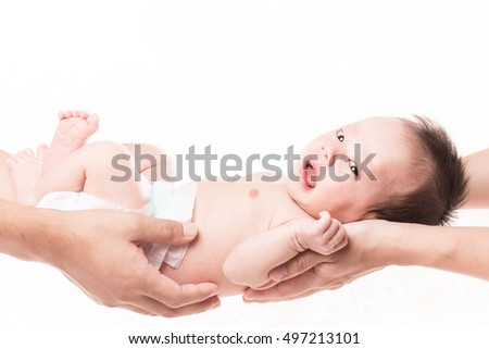 Newborn baby White Background