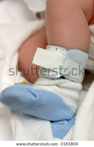 Newborn Boy in hospital - stock photo